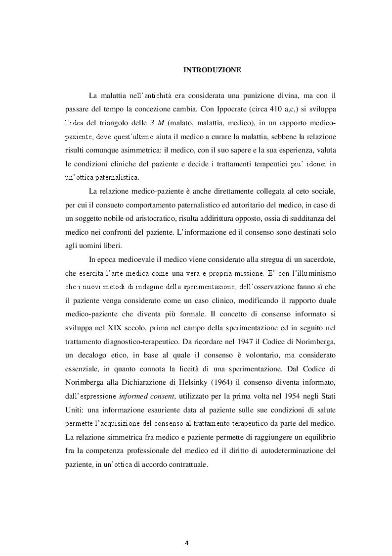 Anteprima della tesi: La Disciplina in materia di Consenso Informato e Disposizioni Anticipate di Trattamento, Pagina 2