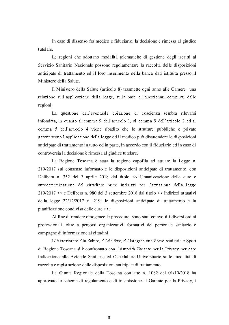 Anteprima della tesi: La Disciplina in materia di Consenso Informato e Disposizioni Anticipate di Trattamento, Pagina 6
