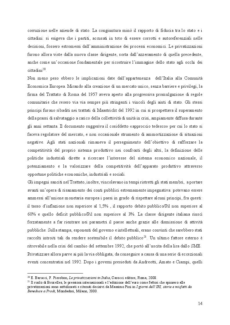 Estratto dalla tesi: Fincantieri, dalla fine dell'IRI al successo internazionale