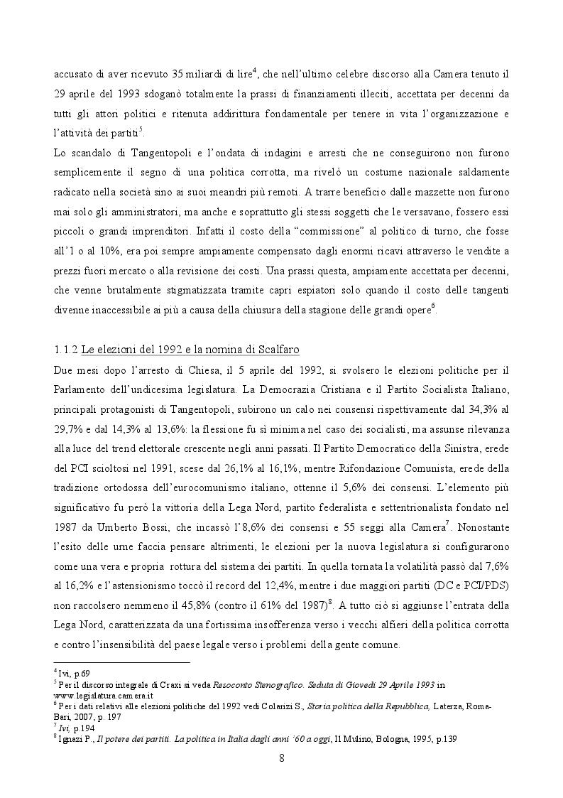 Anteprima della tesi: Il governo di Lamberto Dini (1995-1996). L'anello tecnico tra le due repubbliche, Pagina 5