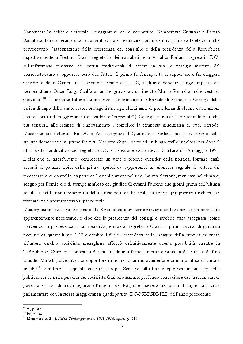Anteprima della tesi: Il governo di Lamberto Dini (1995-1996). L'anello tecnico tra le due repubbliche, Pagina 6