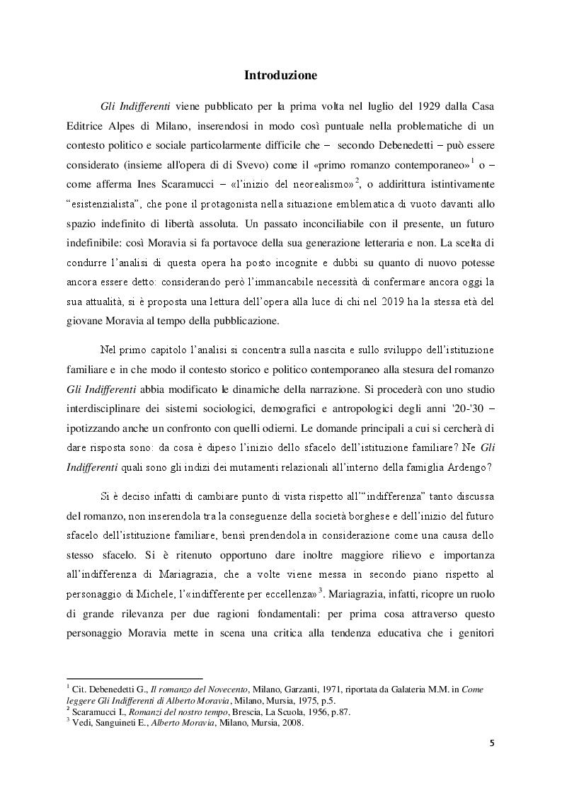"""Anteprima della tesi: Lo sfacelo dell'istituzione familiare ne """"Gli indifferenti"""" di Alberto Moravia, Pagina 2"""