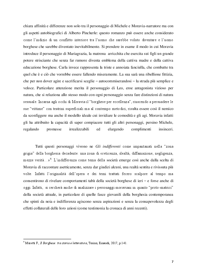 """Anteprima della tesi: Lo sfacelo dell'istituzione familiare ne """"Gli indifferenti"""" di Alberto Moravia, Pagina 4"""