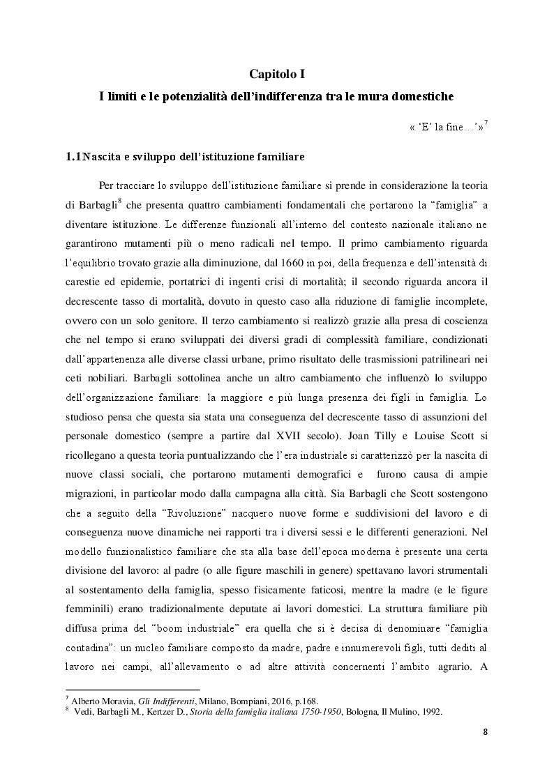 """Anteprima della tesi: Lo sfacelo dell'istituzione familiare ne """"Gli indifferenti"""" di Alberto Moravia, Pagina 5"""