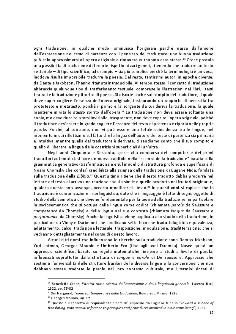 Anteprima della tesi: Viaggio attraverso la traduzione e sottotitolazione di quattro cortometraggi tra inglese, spagnolo e italiano, Pagina 10