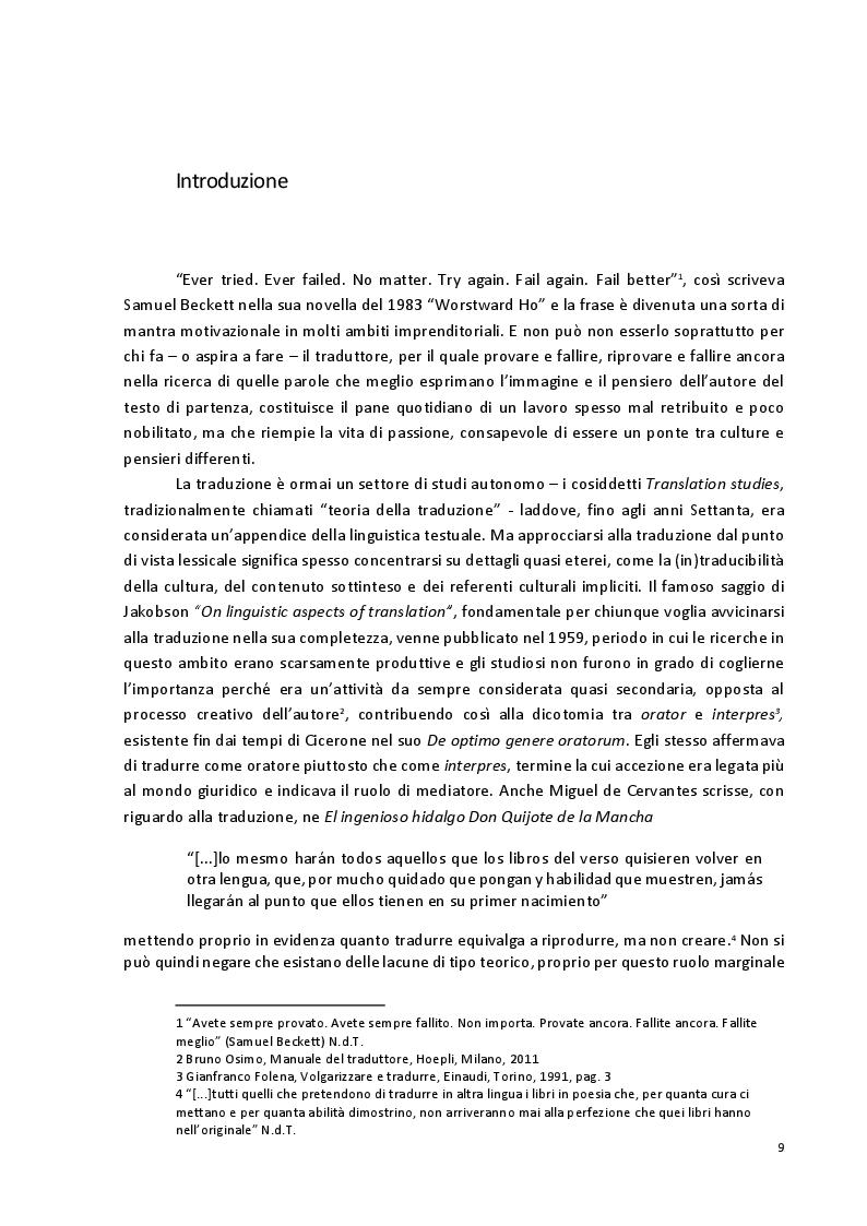 Anteprima della tesi: Viaggio attraverso la traduzione e sottotitolazione di quattro cortometraggi tra inglese, spagnolo e italiano, Pagina 2