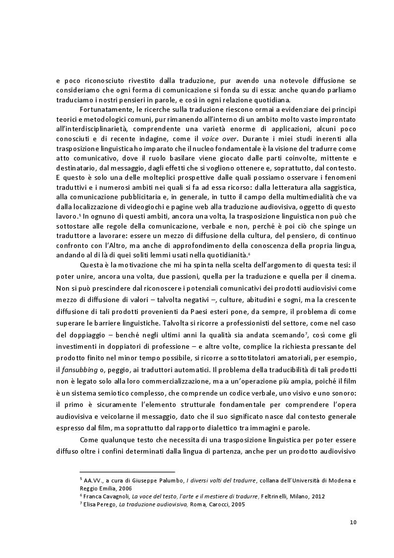 Anteprima della tesi: Viaggio attraverso la traduzione e sottotitolazione di quattro cortometraggi tra inglese, spagnolo e italiano, Pagina 3