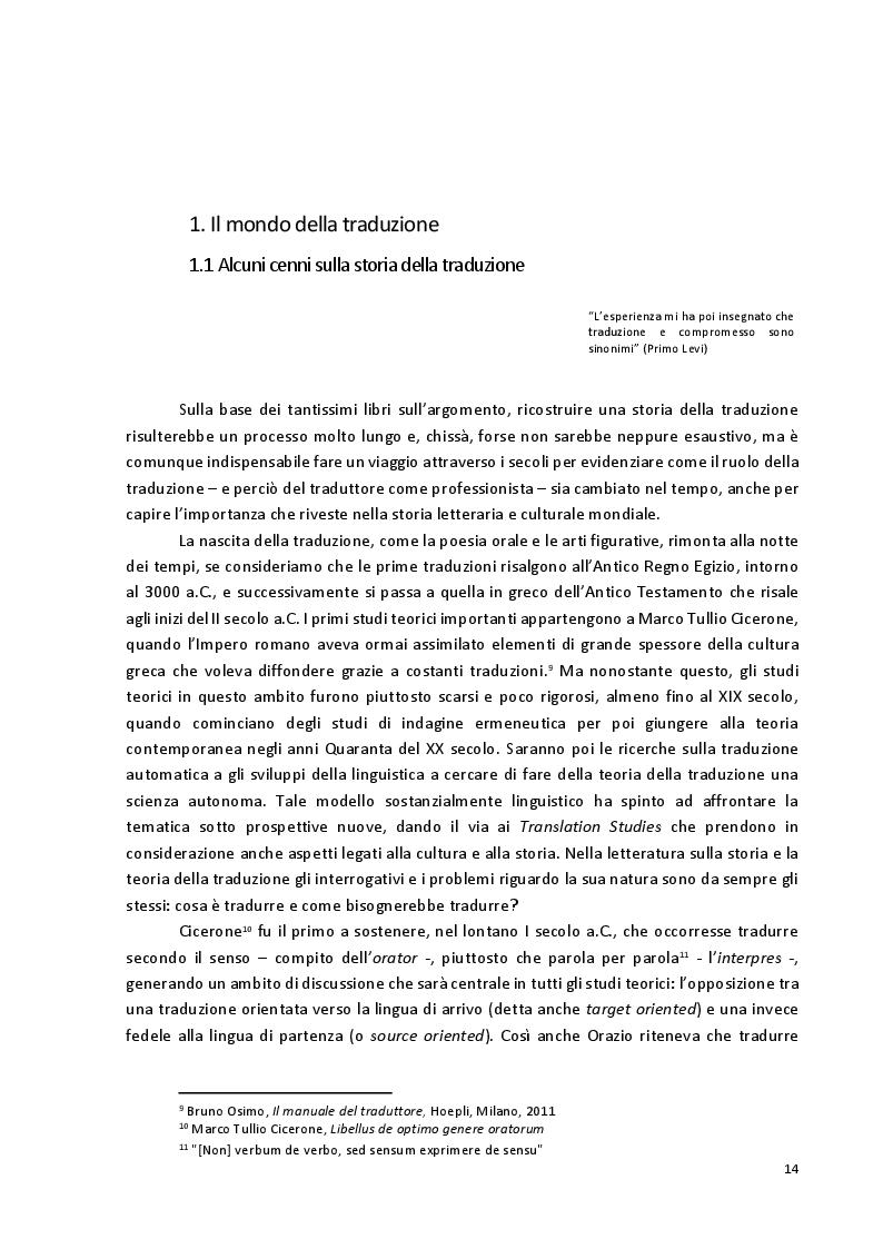 Anteprima della tesi: Viaggio attraverso la traduzione e sottotitolazione di quattro cortometraggi tra inglese, spagnolo e italiano, Pagina 7