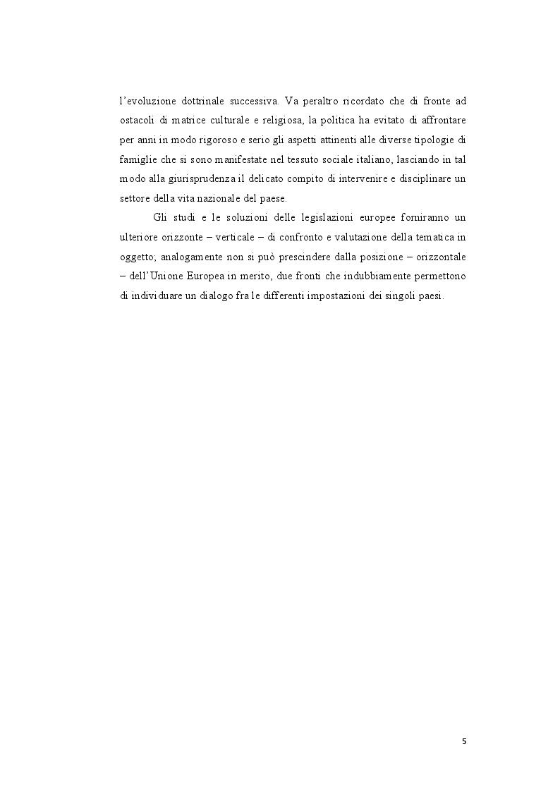 Anteprima della tesi: Genesi e sviluppo del riconoscimento giuridico delle unioni civili nei paesi dell'Unione Europea, Pagina 4