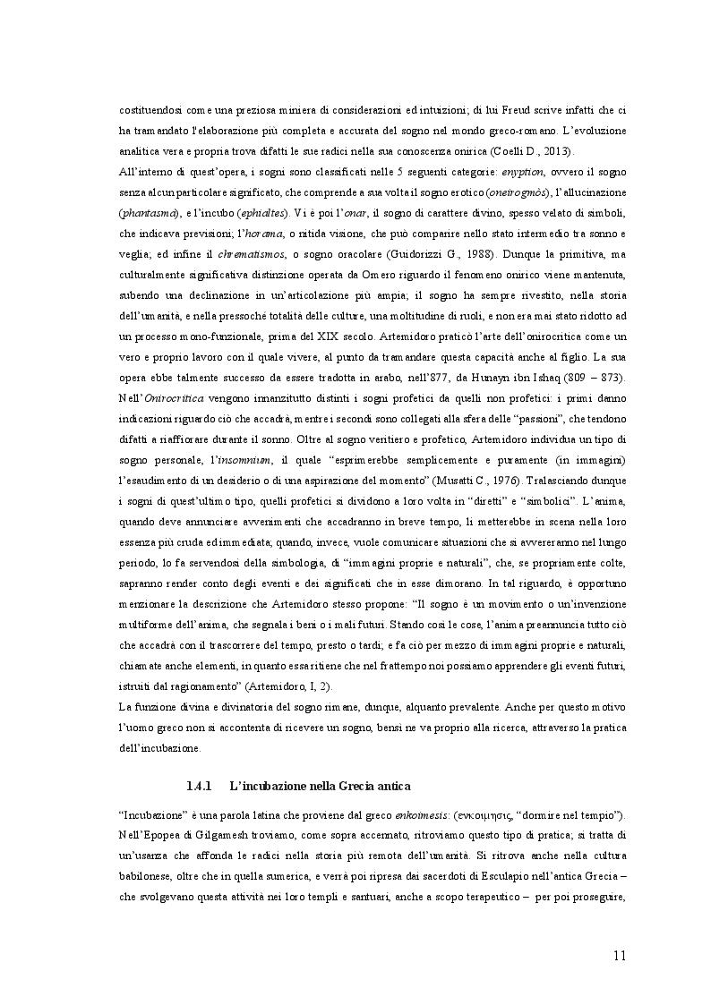 Estratto dalla tesi: Il Sogno Lucido: da una ricostruzione Storico-Antropologica del fenomeno onirico alle più attuali acquisizioni Psico-Fisiologiche, per un'applicazione in campo Psicoterapeutico
