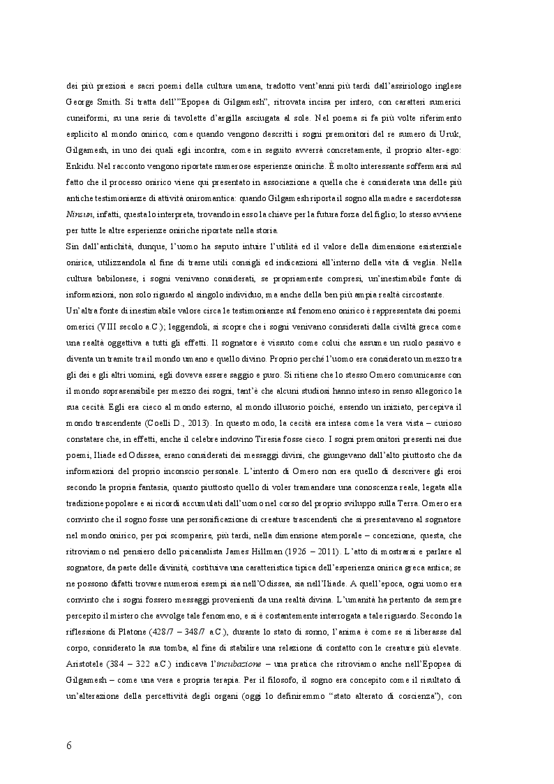 Anteprima della tesi: Il Sogno Lucido: da una ricostruzione Storico-Antropologica del fenomeno onirico alle più attuali acquisizioni Psico-Fisiologiche, per un'applicazione in campo Psicoterapeutico, Pagina 5