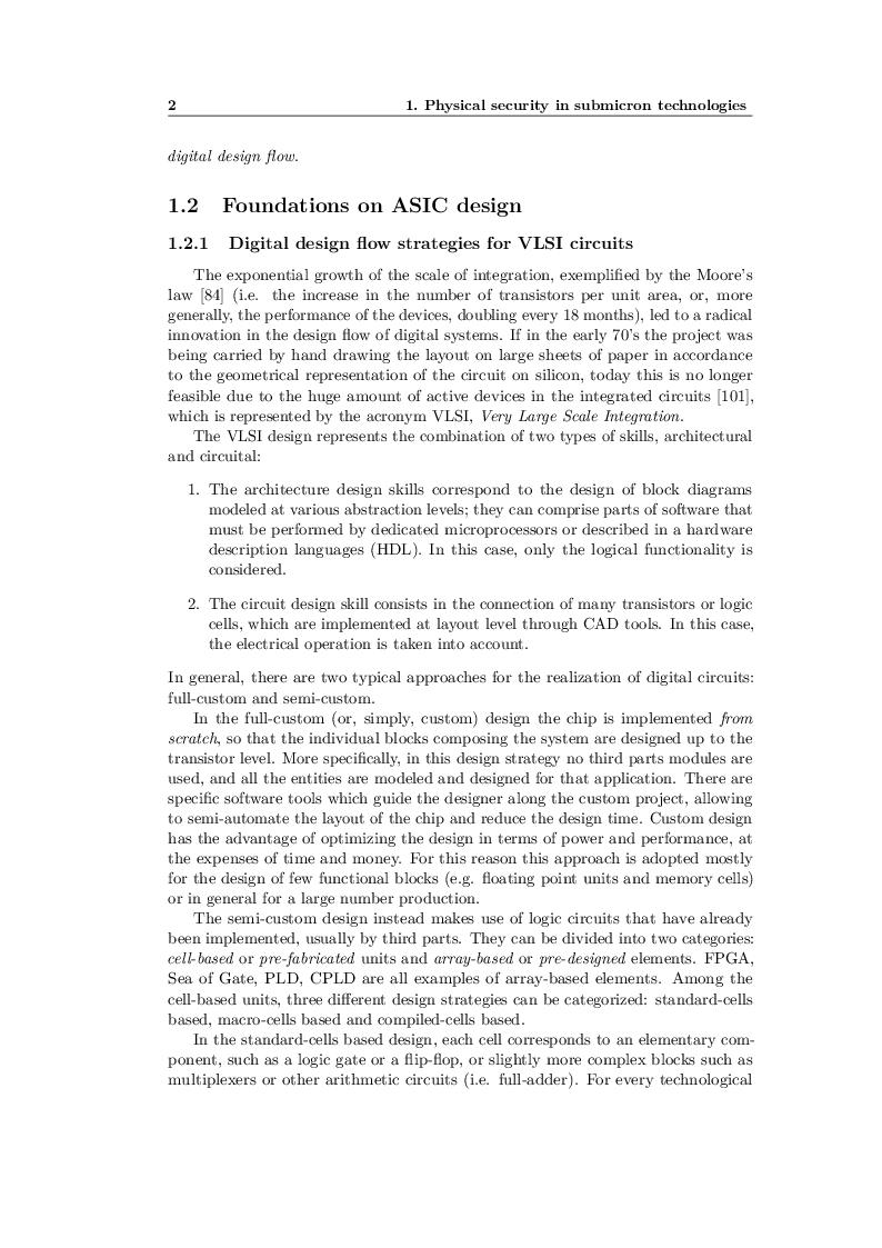 Anteprima della tesi: Design techniques for secure cryptographic circuits in deep submicron technologies, Pagina 4