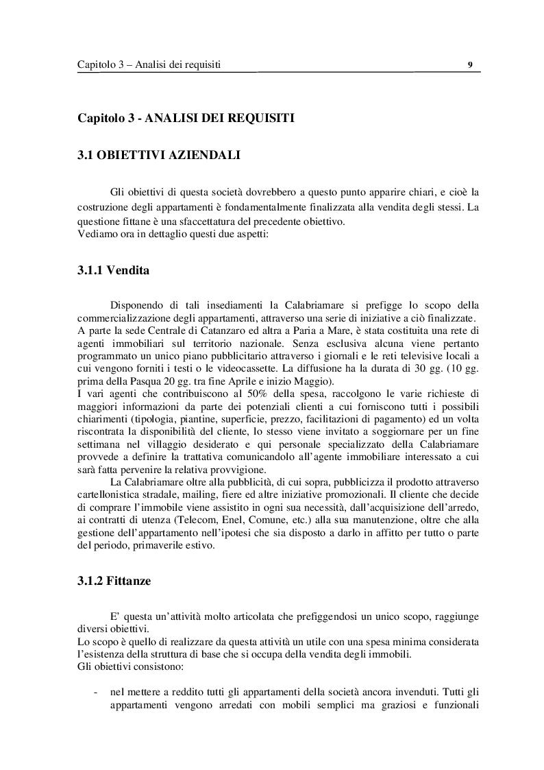 Estratto dalla tesi: Analisi e Progettazione di un sistema per la gestione di un'azienda di soggiorno e turismo