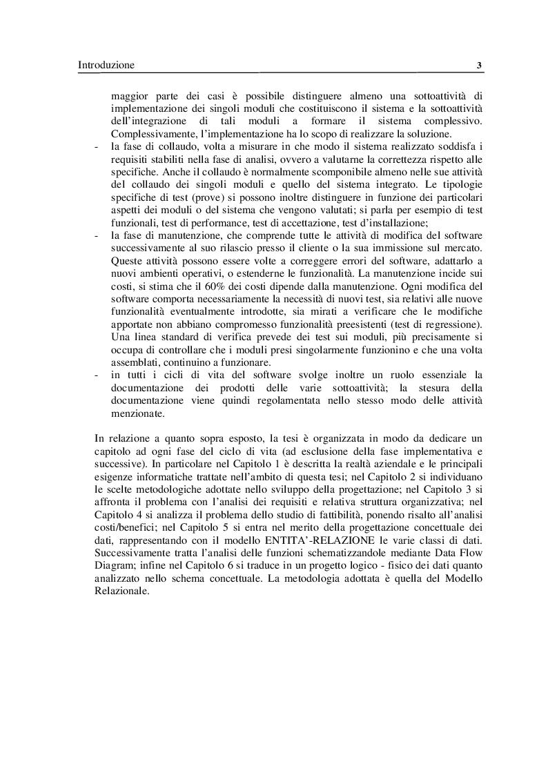 Anteprima della tesi: Analisi e Progettazione di un sistema per la gestione di un'azienda di soggiorno e turismo, Pagina 3