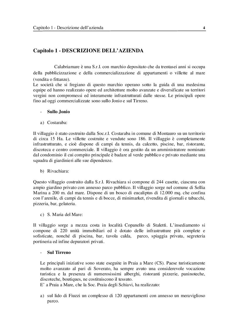 Anteprima della tesi: Analisi e Progettazione di un sistema per la gestione di un'azienda di soggiorno e turismo, Pagina 4