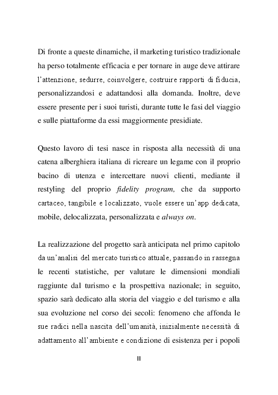 Anteprima della tesi: La promozione dell'offerta turistica online: Analisi e progettazione di un mobile loyalty program, Pagina 3