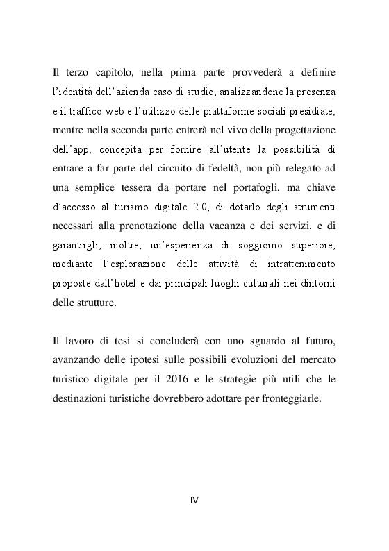 Anteprima della tesi: La promozione dell'offerta turistica online: Analisi e progettazione di un mobile loyalty program, Pagina 5