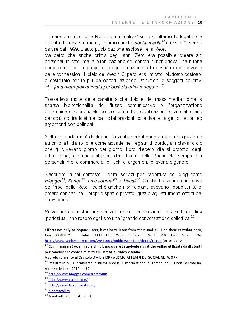 Anteprima della tesi: E-Journalism: Evoluzione di una professione tra Gutenberg e Twitter, Pagina 4