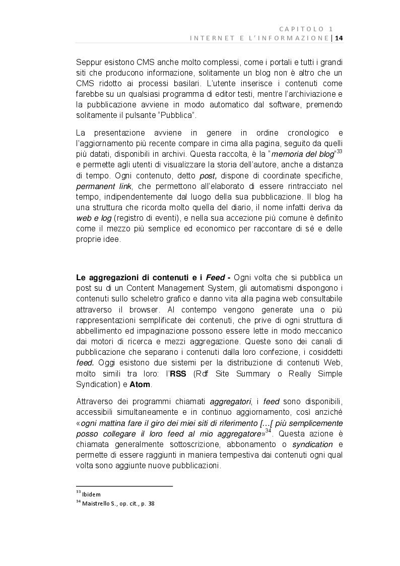 Anteprima della tesi: E-Journalism: Evoluzione di una professione tra Gutenberg e Twitter, Pagina 8