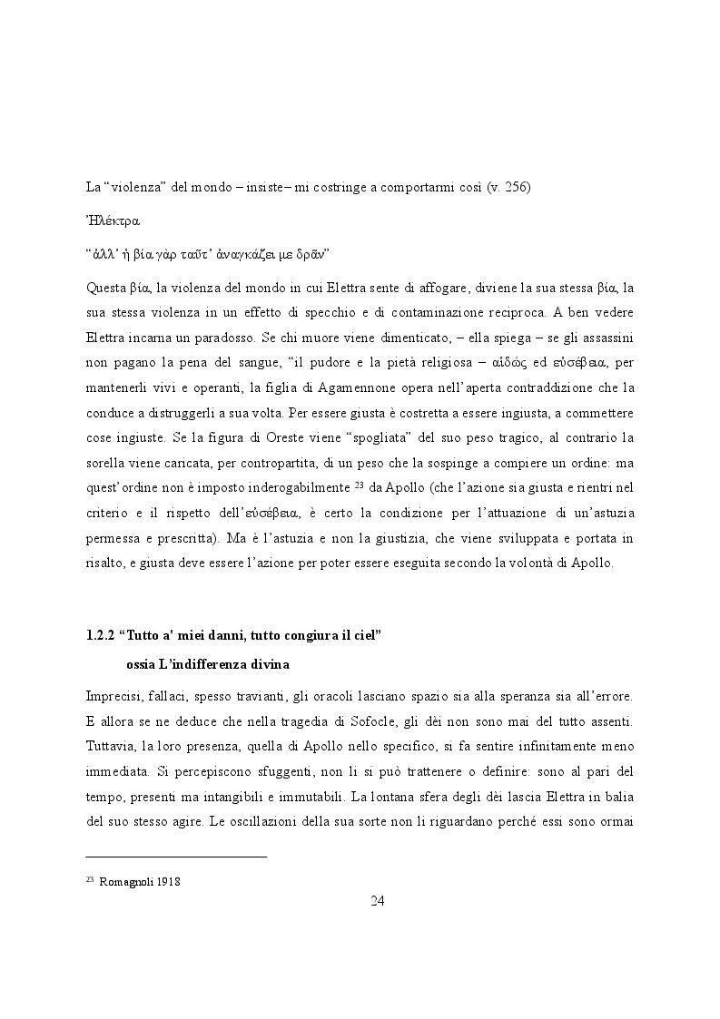 Estratto dalla tesi: Elettra nell'Idomeneo Re di Creta di Mozart: riprese classiche dal teatro sofocleo