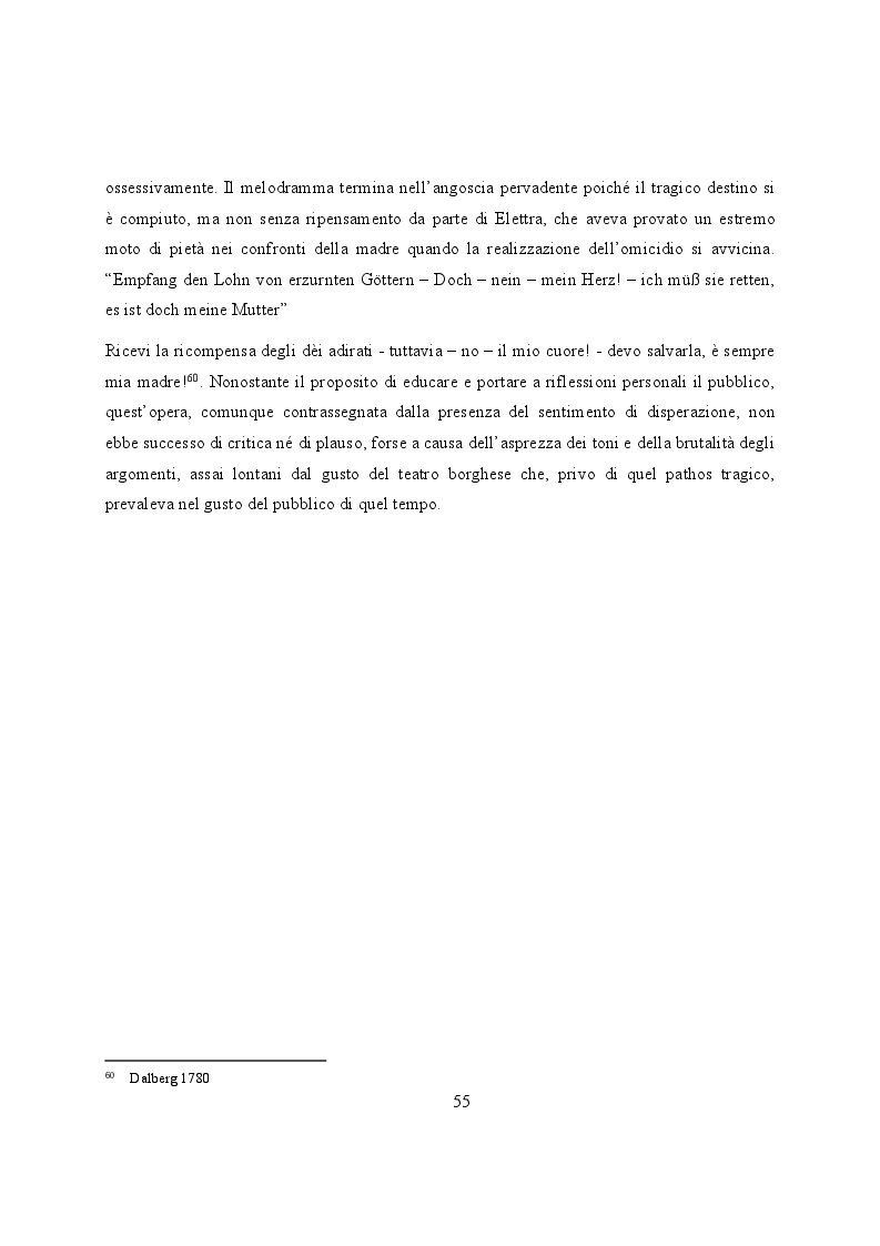 Anteprima della tesi: Elettra nell'Idomeneo Re di Creta di Mozart: riprese classiche dal teatro sofocleo, Pagina 13