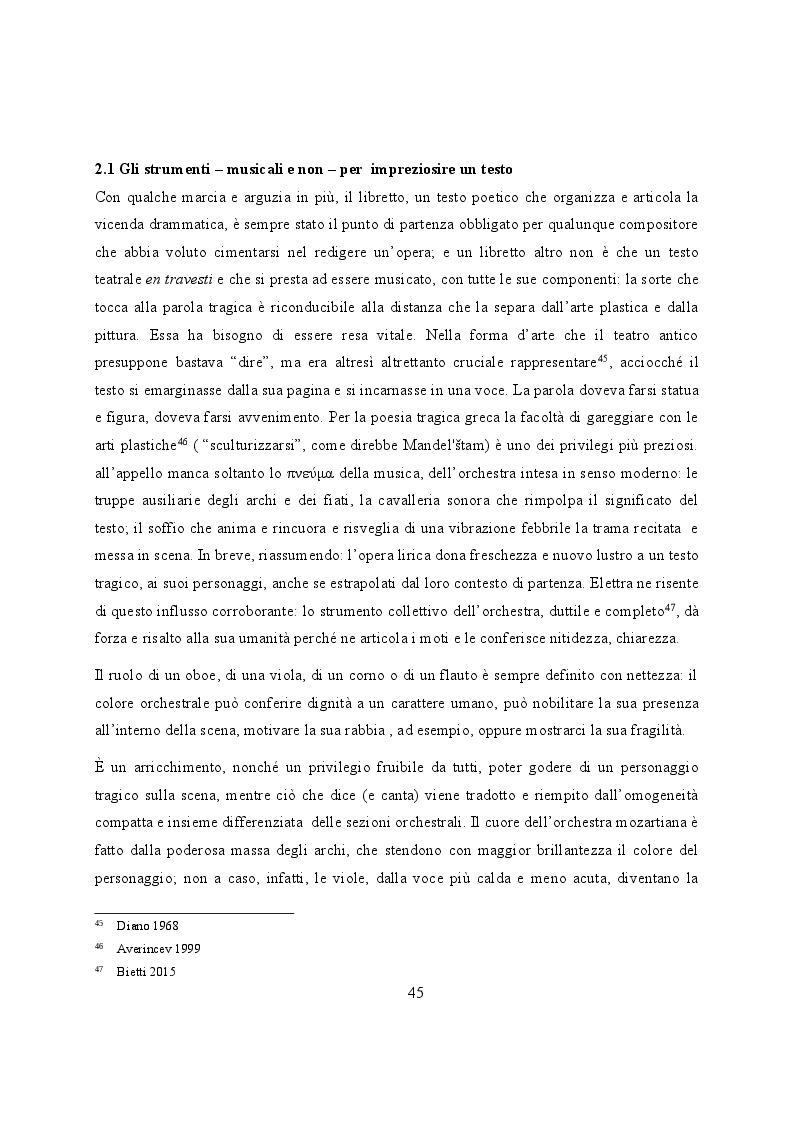 Anteprima della tesi: Elettra nell'Idomeneo Re di Creta di Mozart: riprese classiche dal teatro sofocleo, Pagina 3
