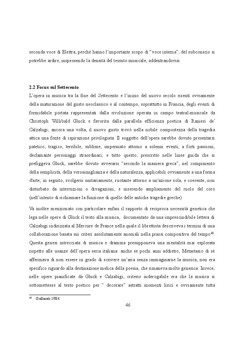 Anteprima della tesi: Elettra nell'Idomeneo Re di Creta di Mozart: riprese classiche dal teatro sofocleo, Pagina 4