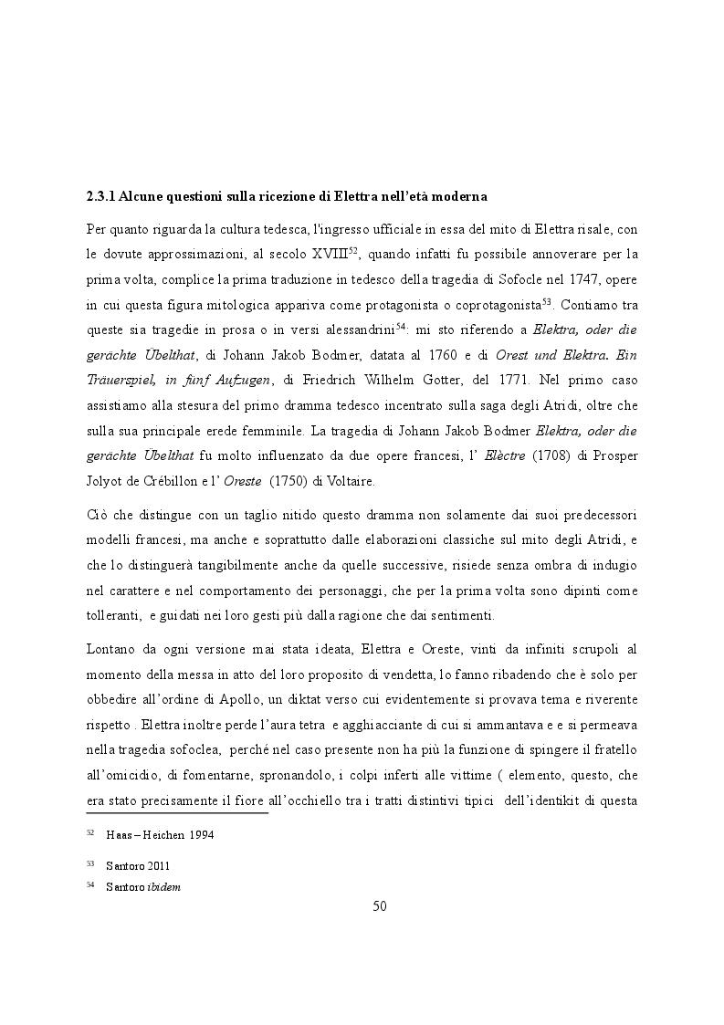Anteprima della tesi: Elettra nell'Idomeneo Re di Creta di Mozart: riprese classiche dal teatro sofocleo, Pagina 8