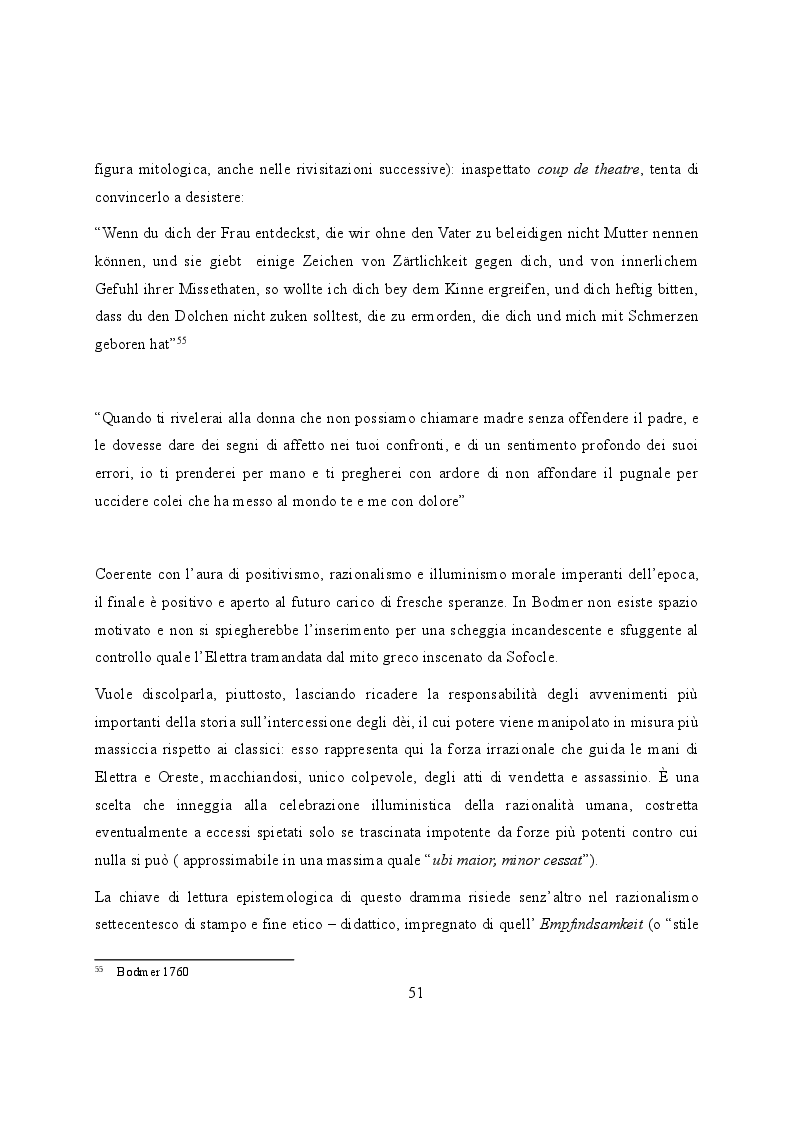 Anteprima della tesi: Elettra nell'Idomeneo Re di Creta di Mozart: riprese classiche dal teatro sofocleo, Pagina 9