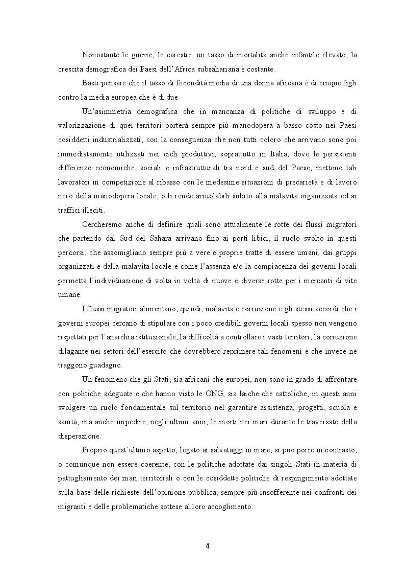 Anteprima della tesi: I flussi migratori dall'Africa subsahariana verso l'Italia, Pagina 3