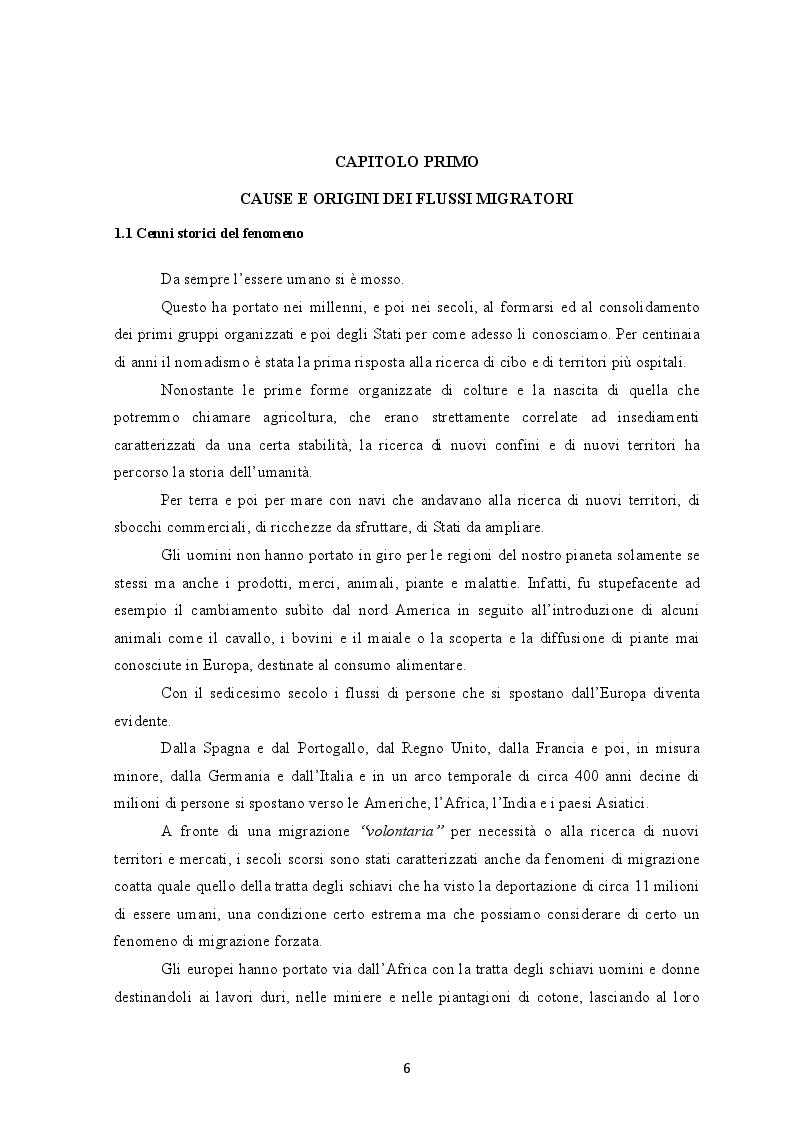 Anteprima della tesi: I flussi migratori dall'Africa subsahariana verso l'Italia, Pagina 5