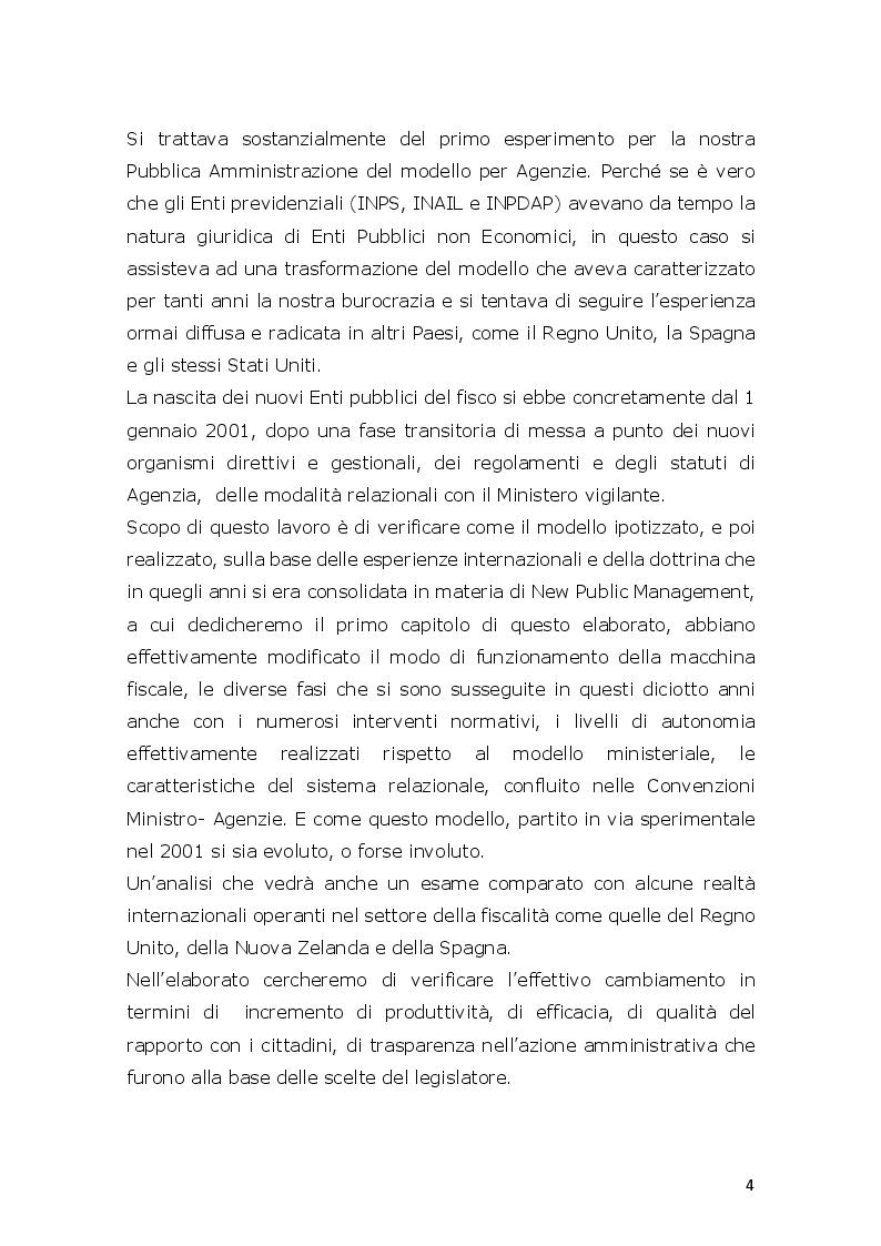 Anteprima della tesi: L'innovazione ed il cambiamento nella PA Italiana. Il modello Agenzie fiscali. Esperienze e prospettive a circa venti anni dalla loro istituzione, Pagina 3