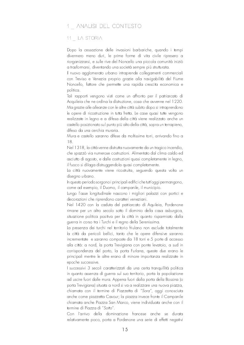 Anteprima della tesi: Pordenone: Recupero urbano degli ex bagni di Pordenone, Pagina 2