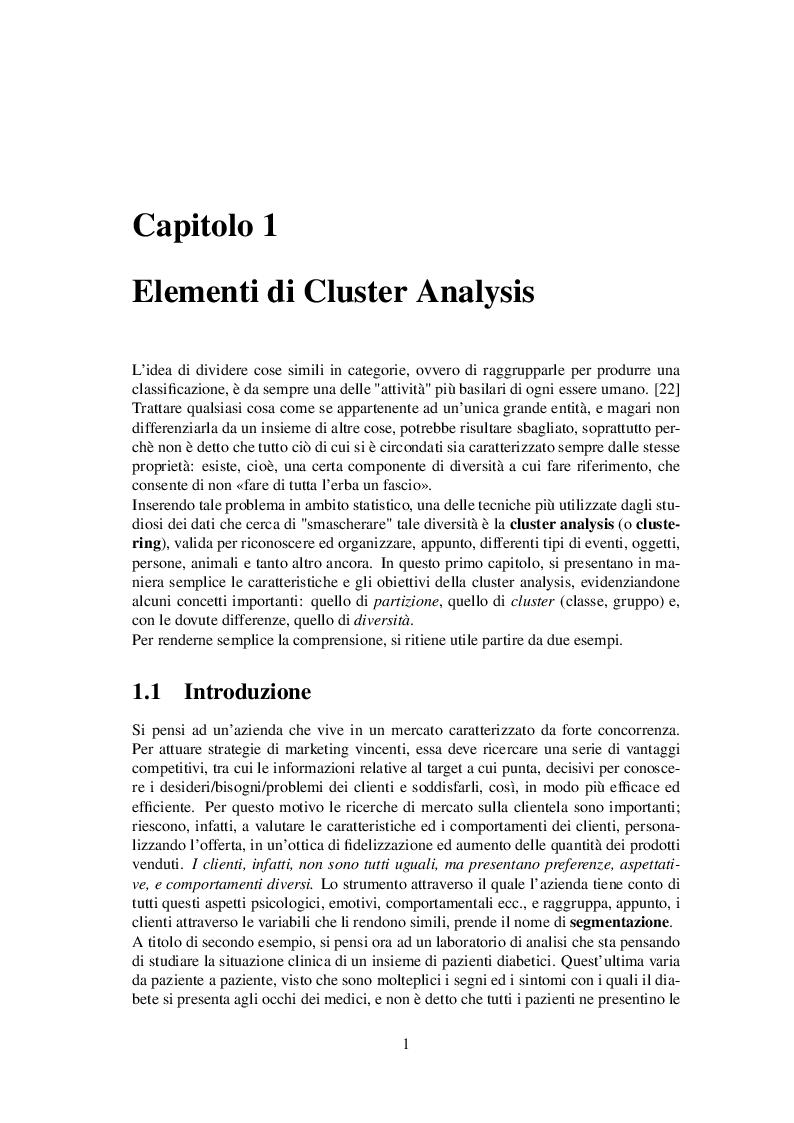 Anteprima della tesi: Classificazione automatica per dati ad alta dimensionalità: un approccio fuzzy per dati categorici, Pagina 2