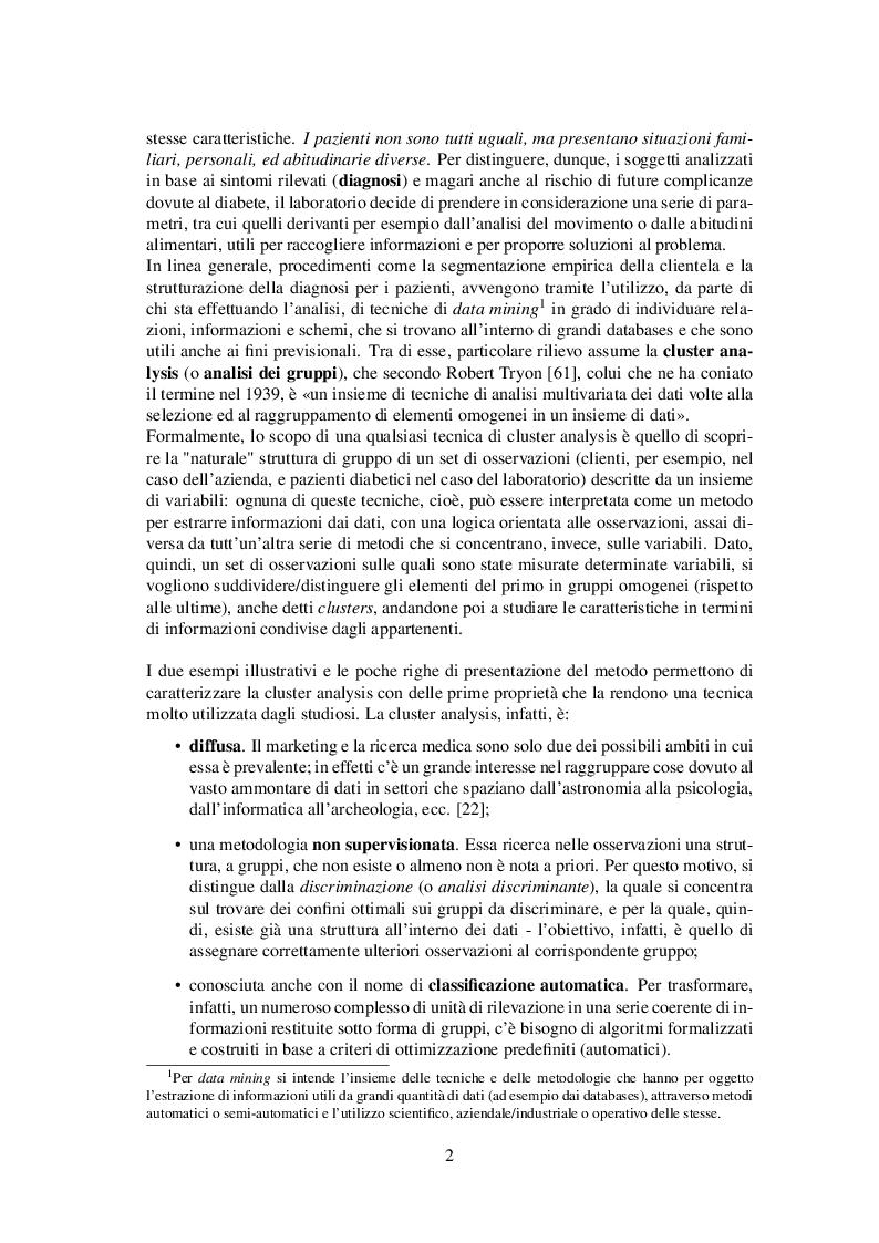 Anteprima della tesi: Classificazione automatica per dati ad alta dimensionalità: un approccio fuzzy per dati categorici, Pagina 3