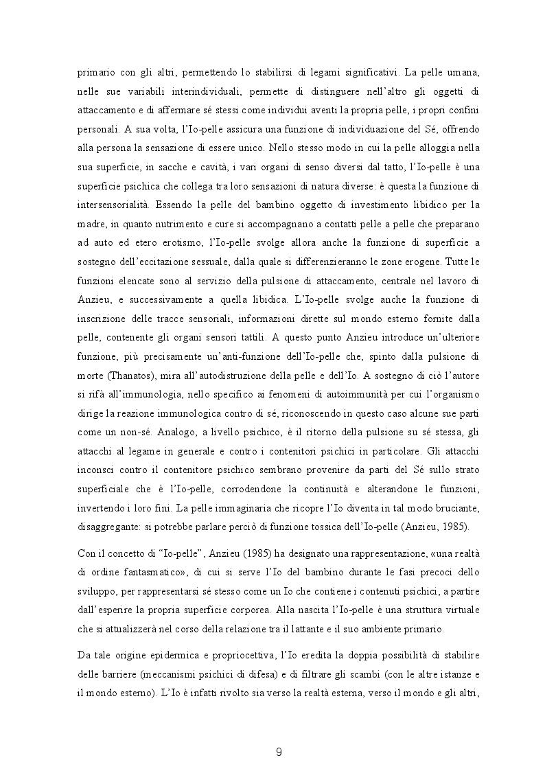 Estratto dalla tesi: Il soggetto transizionale di G. Benedetti nella terapia non verbale delle psicosi e i suoi collegamenti con il pensiero freudiano