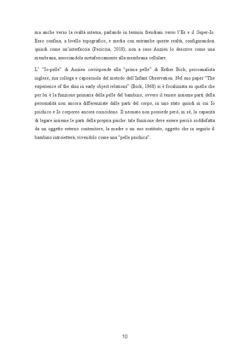 Anteprima della tesi: Il soggetto transizionale di G. Benedetti nella terapia non verbale delle psicosi e i suoi collegamenti con il pensiero freudiano, Pagina 5