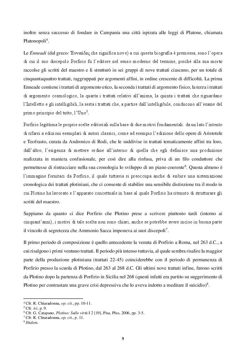 Anteprima della tesi: Felicità e virtù in Plotino, Pagina 6