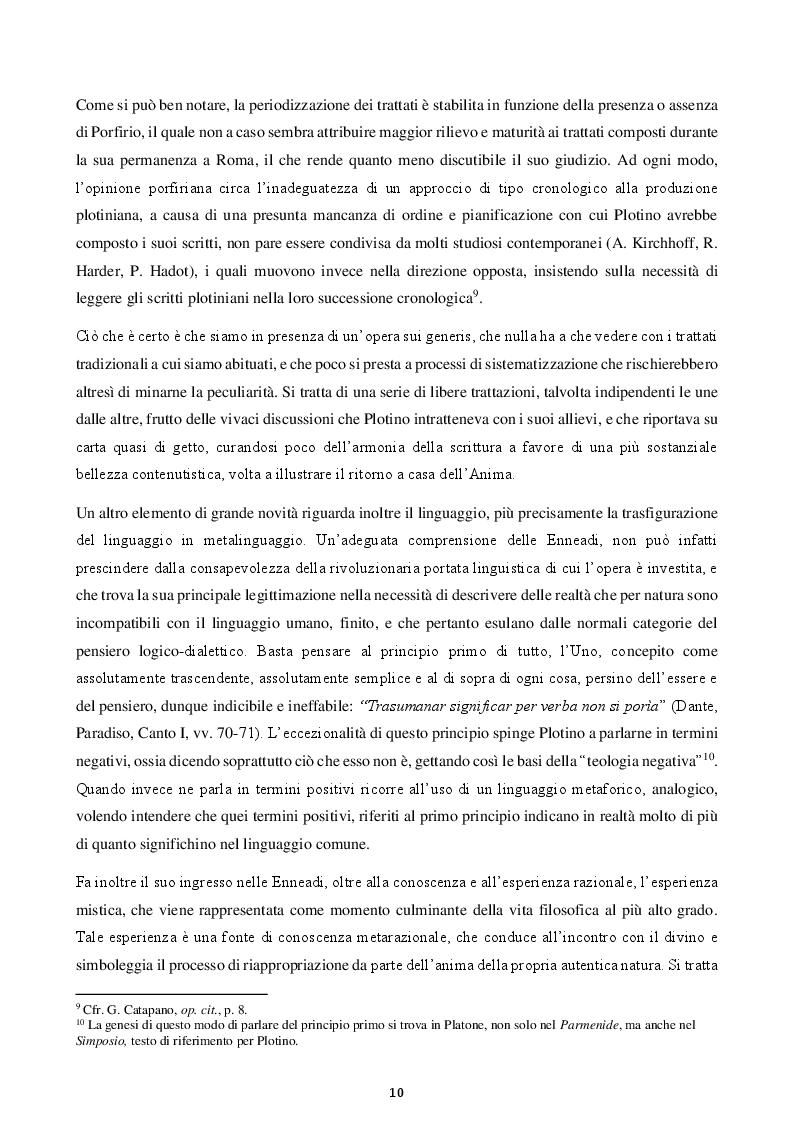 Anteprima della tesi: Felicità e virtù in Plotino, Pagina 7