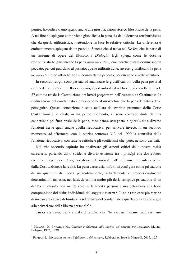 Anteprima della tesi: Il fallimento del carcere: ragioni e prospettive, Pagina 3