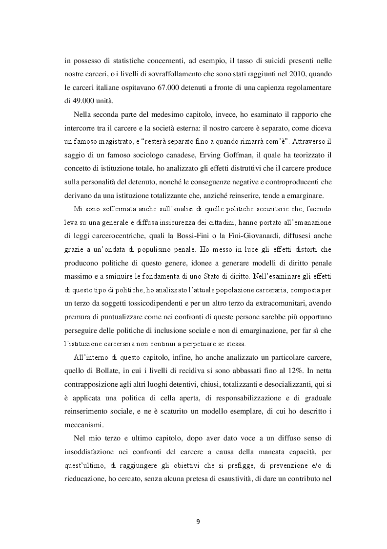 Anteprima della tesi: Il fallimento del carcere: ragioni e prospettive, Pagina 5