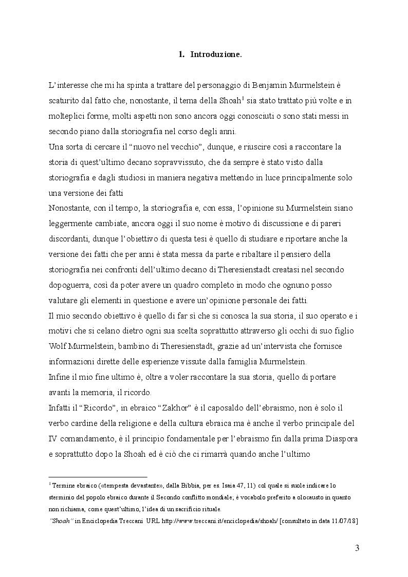 """Anteprima della tesi: """"Il testimone mai sentito"""": La storia di Benjamin Murmelstein, Pagina 2"""