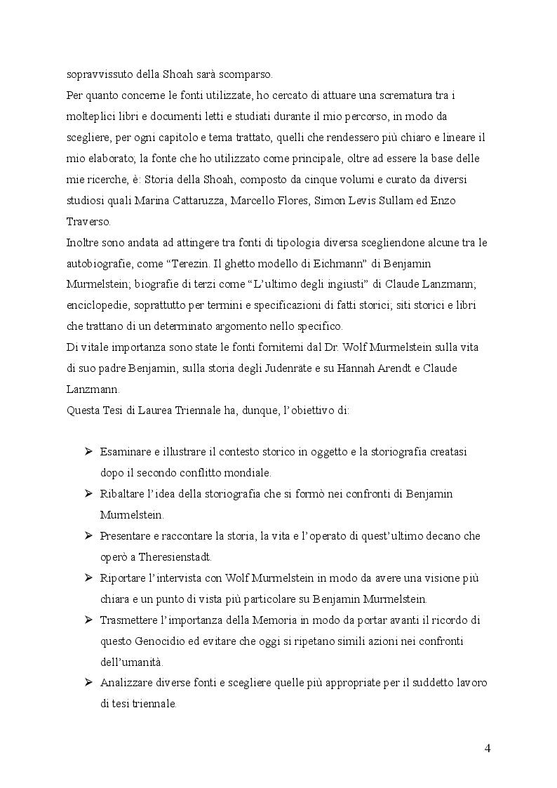 """Anteprima della tesi: """"Il testimone mai sentito"""": La storia di Benjamin Murmelstein, Pagina 3"""