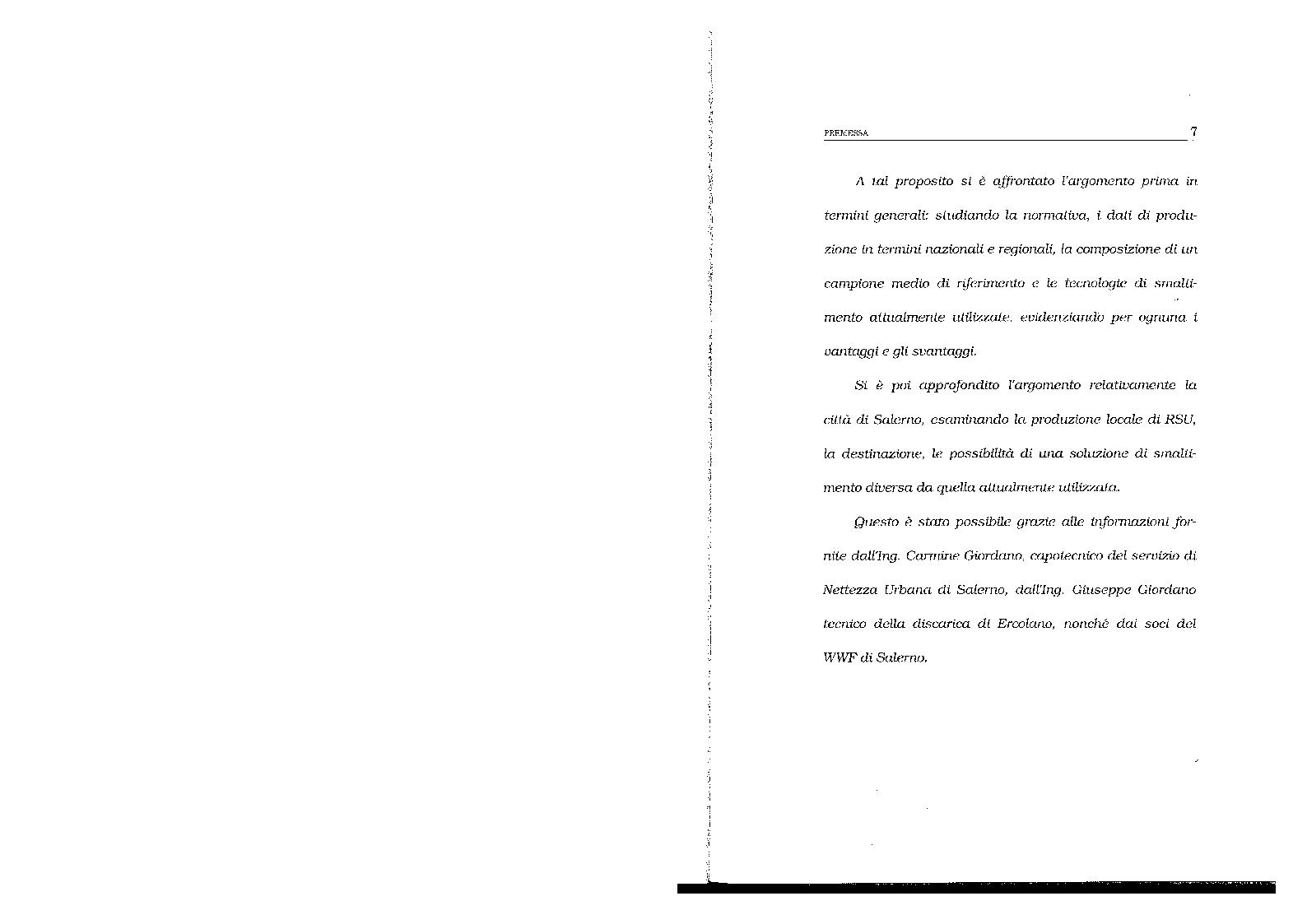 Anteprima della tesi: Lo smaltimento dei rifiuti solidi urbani. Situazioni e prospettive nella città di Salerno., Pagina 4