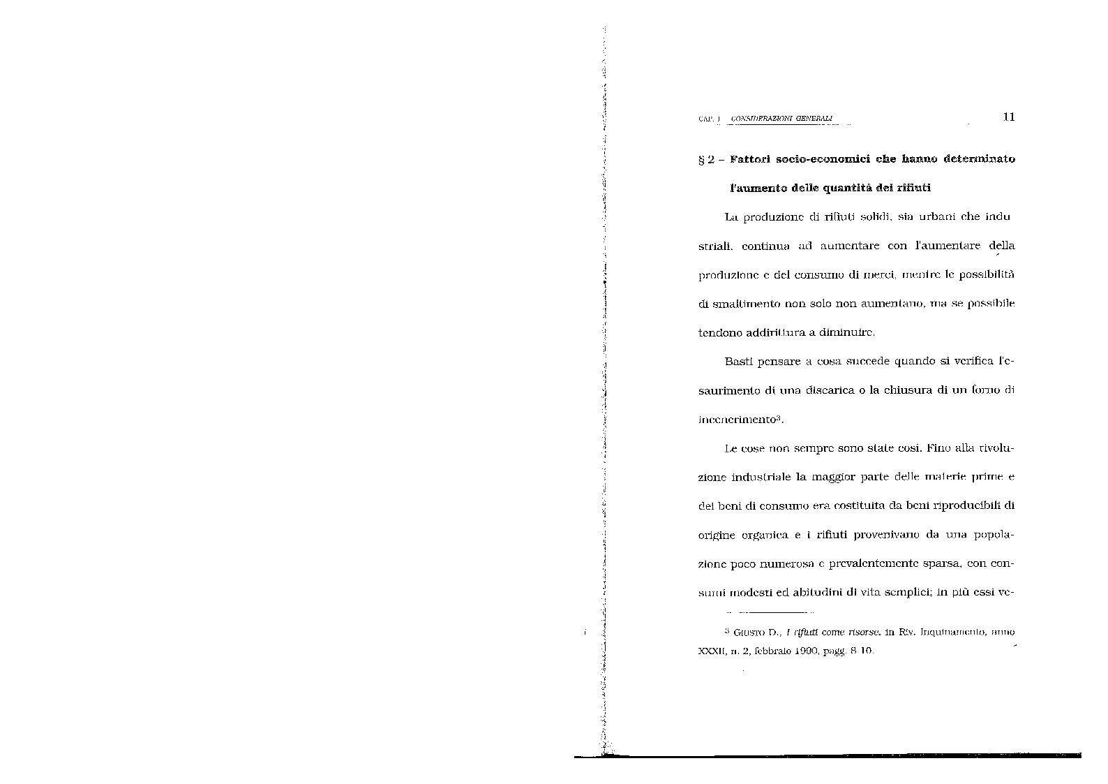 Anteprima della tesi: Lo smaltimento dei rifiuti solidi urbani. Situazioni e prospettive nella città di Salerno., Pagina 8