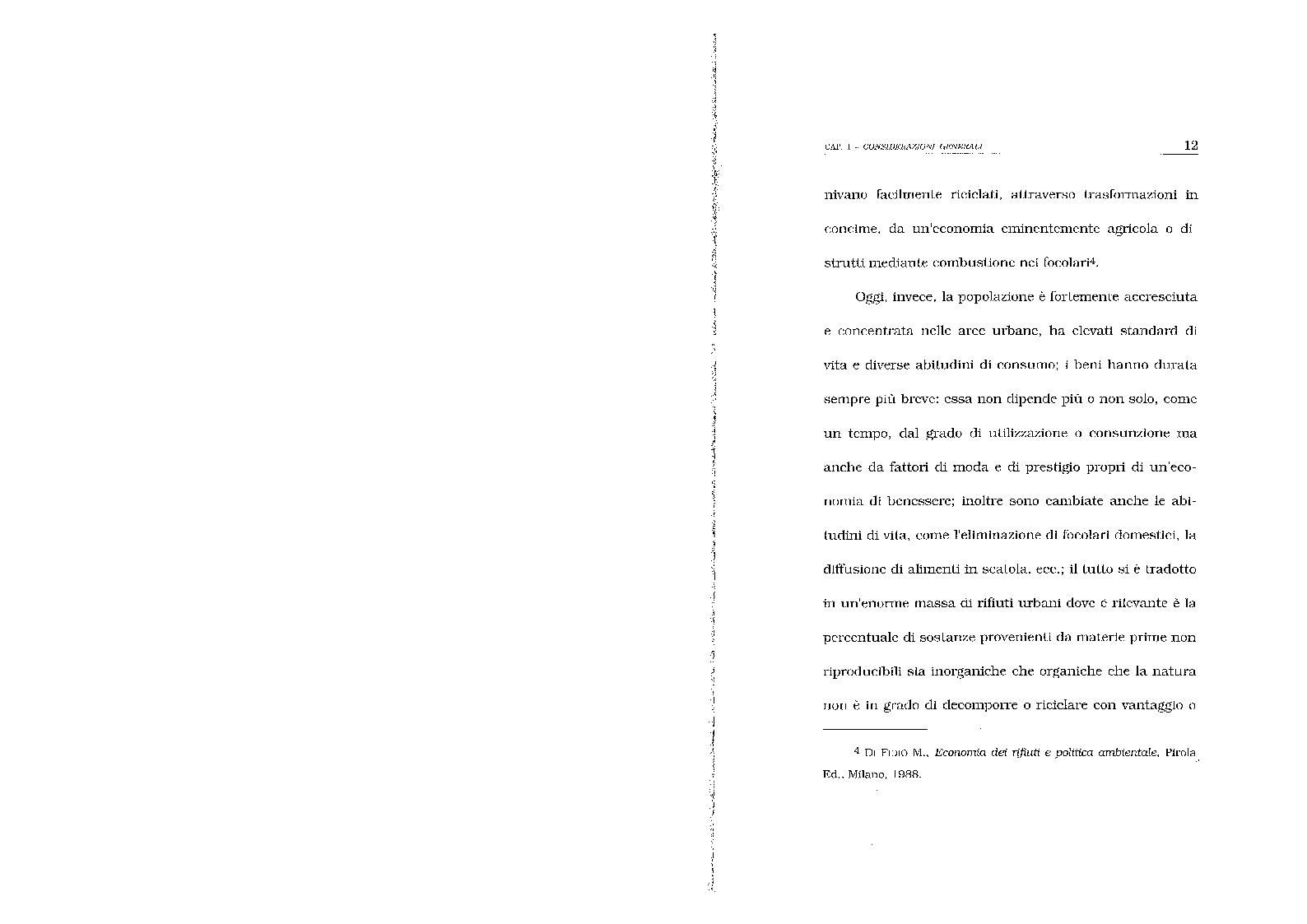 Anteprima della tesi: Lo smaltimento dei rifiuti solidi urbani. Situazioni e prospettive nella città di Salerno., Pagina 9
