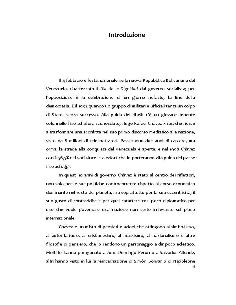 Anteprima della tesi: Hugo Chàvez: il caudillo carismatico tra populismo e socialismo, Pagina 2