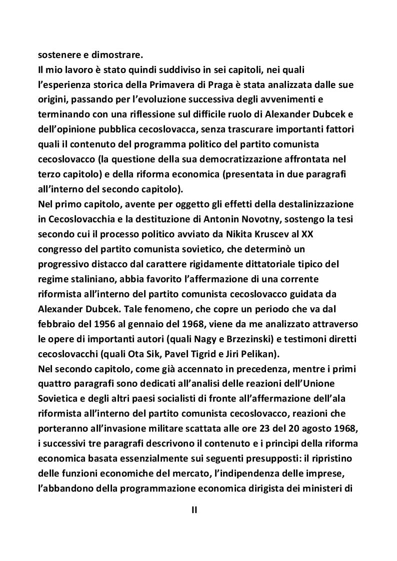Anteprima della tesi: Nascita ed evoluzione della Primavera di Praga, Pagina 3