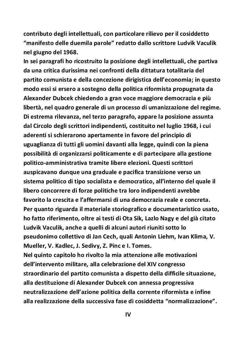 Anteprima della tesi: Nascita ed evoluzione della Primavera di Praga, Pagina 5