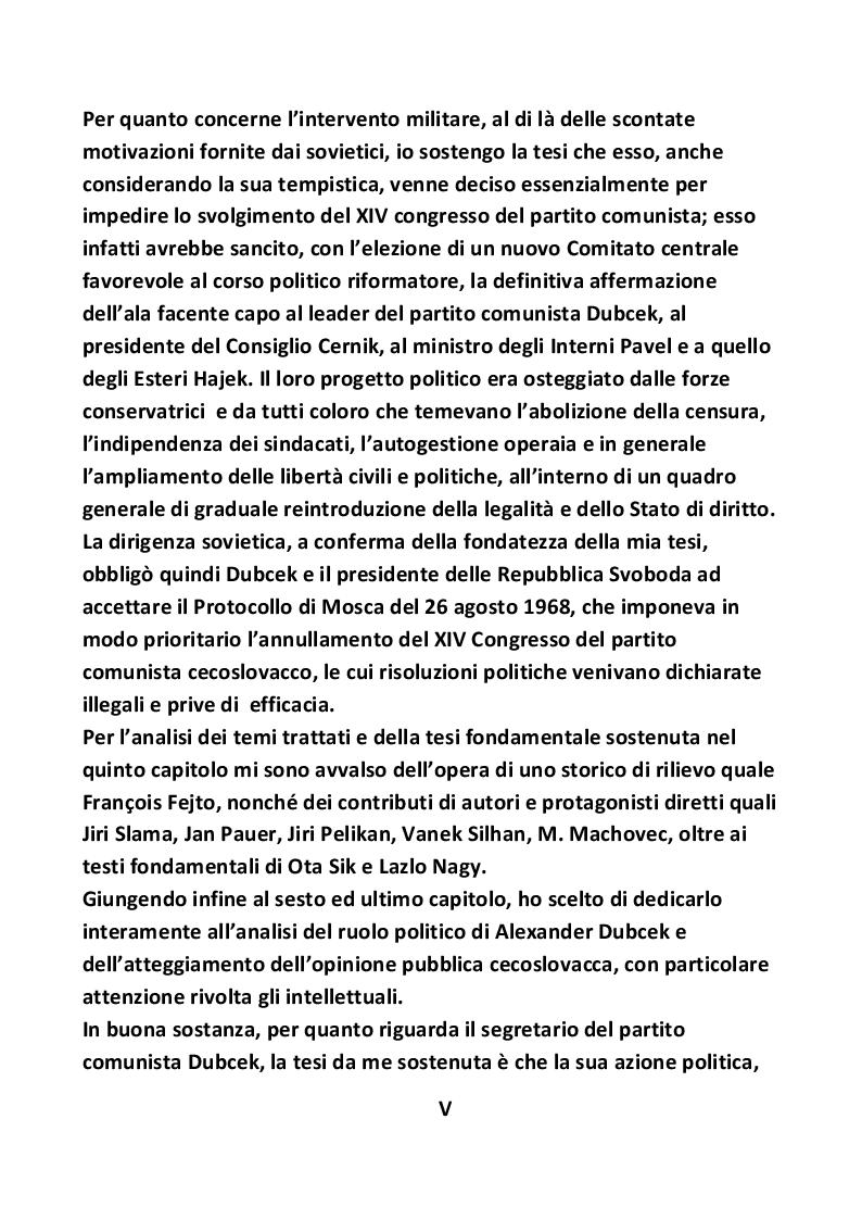 Anteprima della tesi: Nascita ed evoluzione della Primavera di Praga, Pagina 6